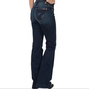 7 for all mankind dojo trouser leg jeans